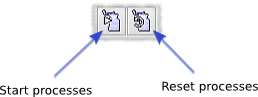 Start Processes and Reset Processes toolbar buttons